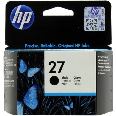 HP №27 black ink cartridge dj33xx, 34xx (10ml) ~220 A4 pages 5% coverage