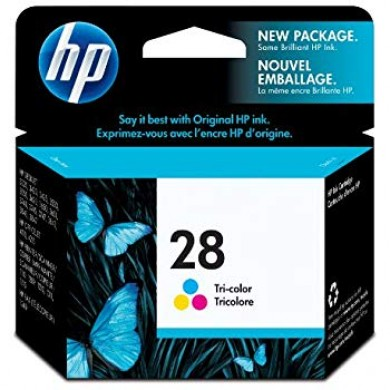 HP 28 Tri-Color Ink Cartridge dj 33xx, 34xx (8ml) ~190 A4 pages 15% density