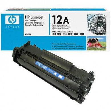 HP Black Cartridge, LJ 101x/102x Series (2000 pages at 5% coverage), Made in Japan.