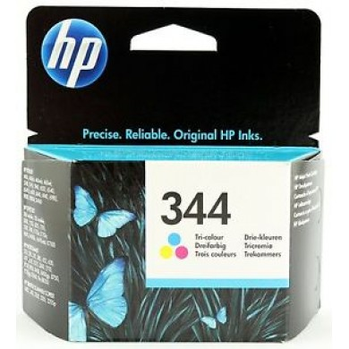 HP 344 Tri-colour Ink Cartridge (14ml), up to 417 10 x 15 cm photos. Made in Singapore.