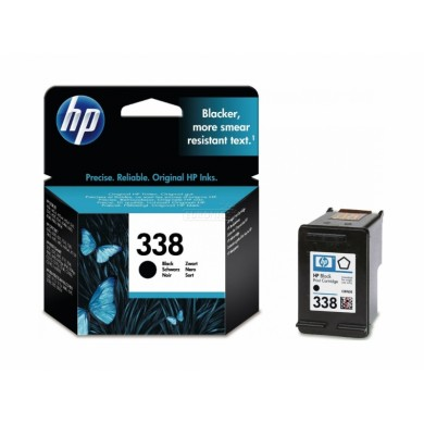 HP 338 Black Ink Cartridge (11ml), ~450 pages 5% coverage