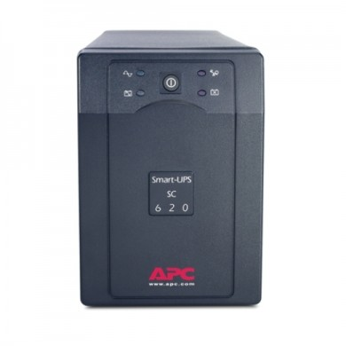 APC Smart-UPS SC620I, 620VA/390W, AVR, 4 x IEC Sockets (3 Battery Backup, all 4 Surge Protected), RJ-11 Data Line Protection, LED indicators