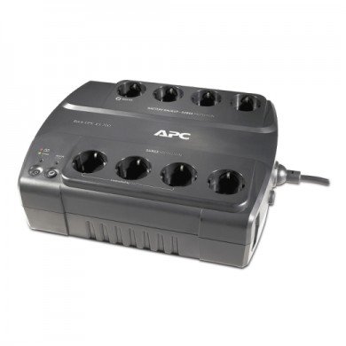 APC Back-UPS BE700G-RS, 700VA/405W, 8 x CEE 7/7 Schuko (4 Battery Backup, all 8 Surge Protected), RJ-11 Data Line Protection, LED indicators