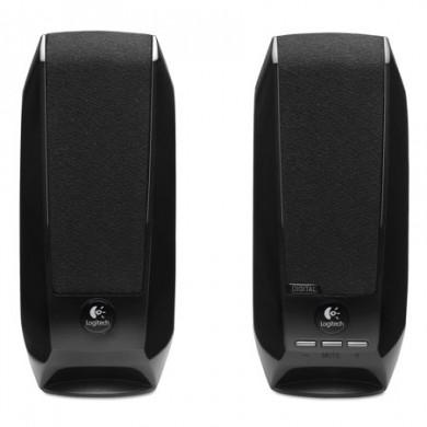 Logitech S150 Speakers 2.0 (RMS 1.2W, 2x0.6W), Digital USB Speaker, Black