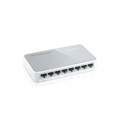 TP-LINK TL-SF1008D  8-port Desktop Switch, 8 10/100M RJ45 ports, Plastic case