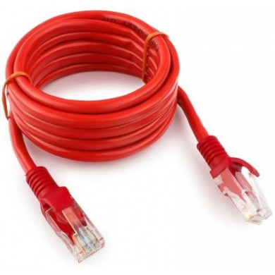 "Patch cord cat. 5E PP12-2M/R Red, 2 m, molded strain relief 50u"" plugs"