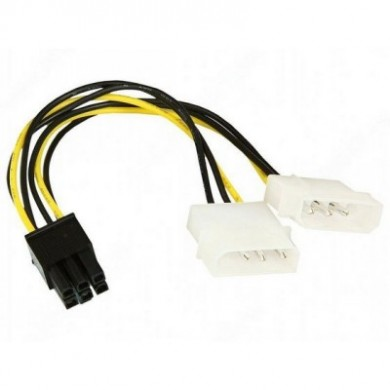 Adapter cable PCI-E - Gembird CC-PSU-6 Internal Power Adapter cable for PCI-E 6pin, 1 x 5.25