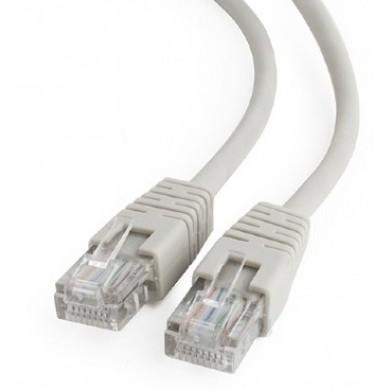 "Patch cord UTP Cat.5e  2m - gray, PP12-2M, molded strain relief 50u"" plugs"