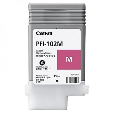Ink Cartridge Canon PFI-102 M, magenta, 130ml for iPF500,510,600,605,610,700,710,720