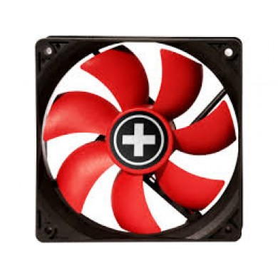 80mm Case Fan - XILENCE XPF80.R.PWM Fan, Performance C, 80x80x25mm, 800-1800 rpm, < 20dBa, 21.8CFM, hydro bearing, 4Pin with PWM, Black/Red