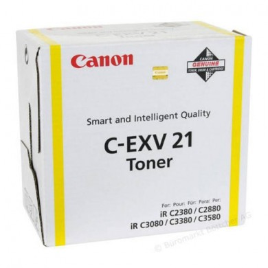 Toner Canon C-EXV21 Yellow, (260g/appr. 14000 pages 10%) for Canon iRC2380/3380