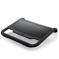 "DEEPCOOL ""N200"", Notebook Cooling Pad up to 15.6"", 1 fan - 120mm, 1000rpm, <22.7dBA, 42.4CFM, big area aluminum mesh, Black"