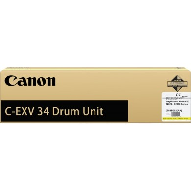Drum Unit Canon C-EXV34 Yellow, 36 000 pages A4 at 5% for Canon ADV iRC2020L,20i,25L,25i,30L,30i