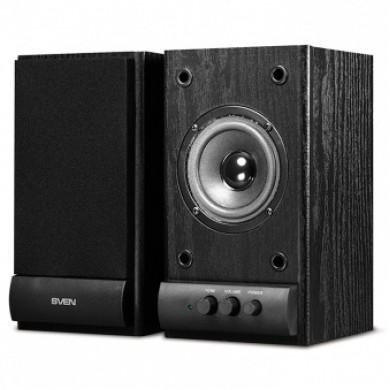 """SVEN SPS-607 Black,  2.0 / 2x3W RMS, wooden, 3"""""""