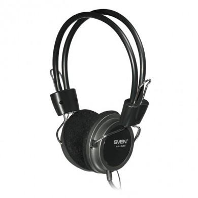 SVEN AP-520, Headphones with microphone, Volume control, 2.2m, Black
