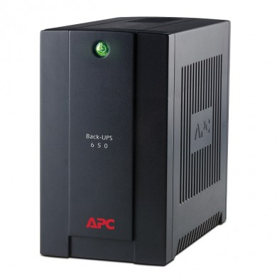 APC Back-UPS BX650CI-RS, 650VA/390W, AVR, 4 x CEE 7/7 Schuko (3 Battery Backup, all 4 Surge Protected), LED indicators, PowerChute USB Port