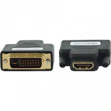 Adapter HDMI-DVI  Gembird  A-HDMI-DVI-2, HDMI to DVI female-male adapter with gold-plated connectors, bulk