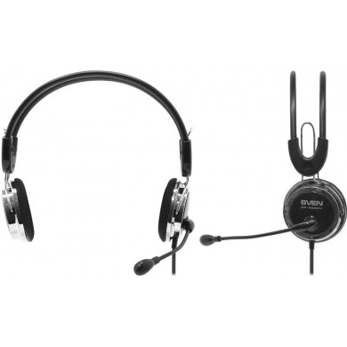 SVEN AP-525MV Black, Headphones with microphone, Volume control, 2.2m