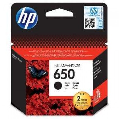HP #650 Black Ink Cartridge for DeskJet 2515/3515 AiO, 360 pages