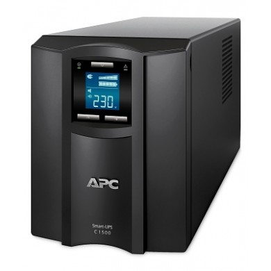 APC Smart-UPS SMC1500I, 1500VA/900W, AVR, 8 x IEC Sockets (all 8 Battery Backup + Surge Protected), LCD Display, PowerChute USB /Serial Port, External Battery Pack Port