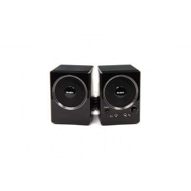 SVEN 247 Black (USB),  2.0 / 2x2W RMS, USB power supply, headphone jack, microphone input, 3