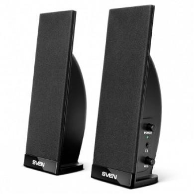 SVEN 230 Black,  2.0 / 2x2W RMS, headphone jack
