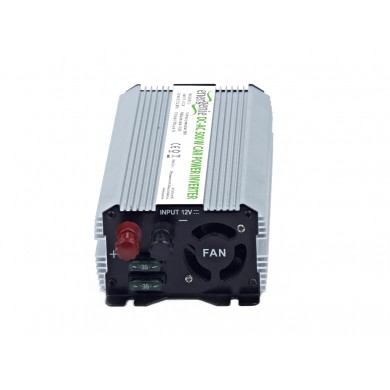 EnerGenie EG-PWC-033, 12V Car power inverter, 500W, with USB port / 5V-1A,  Power output: 500 W continuous power (peak power 1000 W), Output: 230 VAC, Input: 11-15 VDC (car cigarette lighter or accumulator directly)