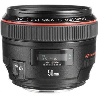 Prime Lens Canon EF 50 mm f/1.2L USM (1257B005)