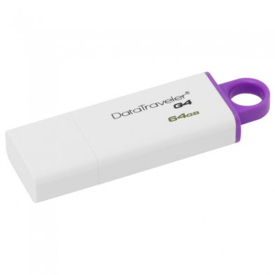 64GB USB3.0  Kingston DataTraveler 100 G3 Black, Retractable USB connector, (Read 100 MByte/s, Write 12 MByte/s)