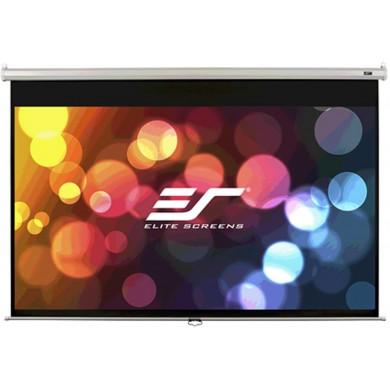 "Elite Screens 85""(1:1) 152,4x152,4cm Manual Pull Down Screen, White"