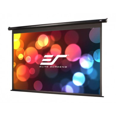 "Elite Screens 100""(16:9) 124,5x221,5cm Spectrum Series Electric Screen with IR/Low Voltage 3-way wall box, Black"