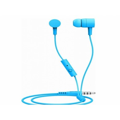 "MAXELL ""Spectrum"" Blue, Earphones with in-line Microphone, Hands free calling features, 3 sets of ear tips, Fabric braided cord, Cord type cable 1.2 m"