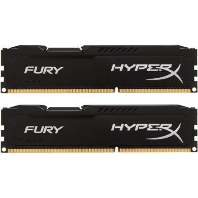 8GB (Kit of 2*4GB) DDR3-1866  Kingston HyperX® FURY (Dual Channel Kit), PC14900, CL10, 1.5V,  Auto-overclocking,  Asymmetric BLACK heat spreader