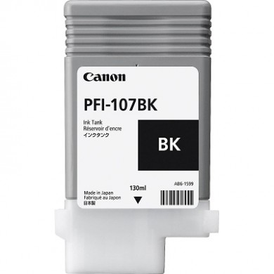 Ink Cartridge Canon PFI-107 Bk, black, 130ml for iPF670,680,685,770,780,785