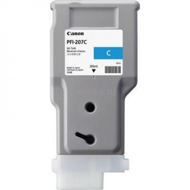Ink Cartridge Canon PFI-207 C, cyan, 300ml for iPF680,685,780,785