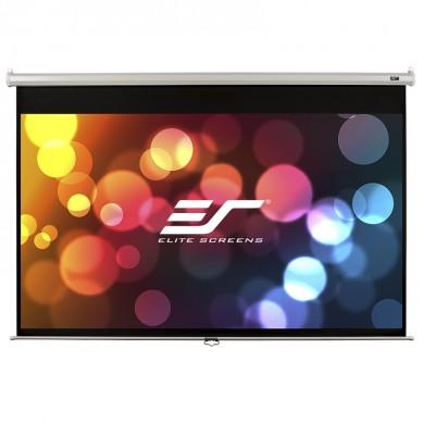 "Elite Screens 100""(4:3) 203x152cm Manual Pull Down Screen, White"
