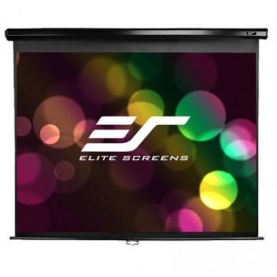 "Elite Screens 100""(16:9) 221x125cm Manual Pull Down Screen, Black"