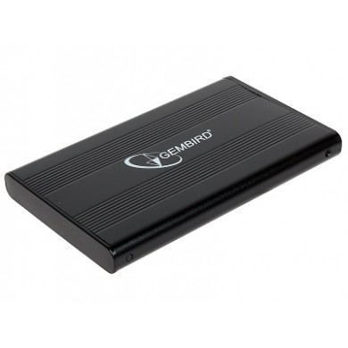 Gembird EE2-U2S-5, External enclosure for 2.5'' SATA HDD with USB interface, mini-USB 5pin connector, Aluminium case, Black