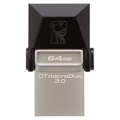 64GB USB3.0  Kingston DataTraveler MicroDuo, Ultra-small, USB microUSB OTG (On-The-Go), (Read 70 MByte/s, Write 12 MByte/s)
