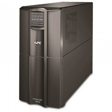 APC Smart-UPS SMT3000I, 3000VA/2700W, AVR, 9 x IEC Sockets ( 8 IEC C13, 1 IEC C19 all 9 Battery Backup + Surge Protected), LCD Display, PowerChute USB /Serial Port