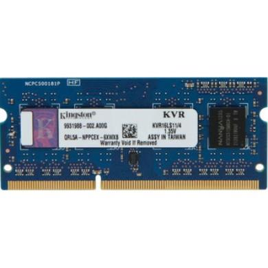 4GB DDR3L-1600 SODIMM  Kingston ValueRam, PC12800, CL11, 1.35V