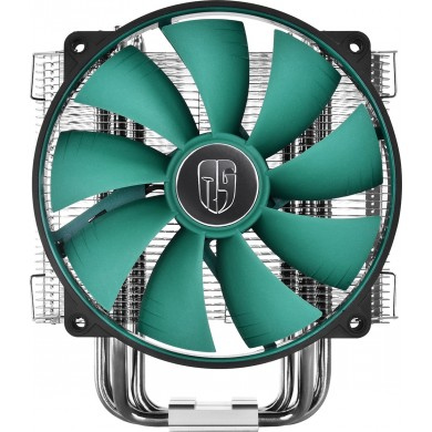 """DEEPCOOL Cooler  """"LUCIFER V2"""", Socket 775/1150/1151/2011 & FM2/AM3, up to 130W, fan: 140х140х26mm, PWM fan with min.300RPM for extreme silence, 300~1400rpm, 12.6~31.1dBA, 81.33CFM, 4 pin, Hydro Bearing, Full-copper base, 6 heatpipes"""