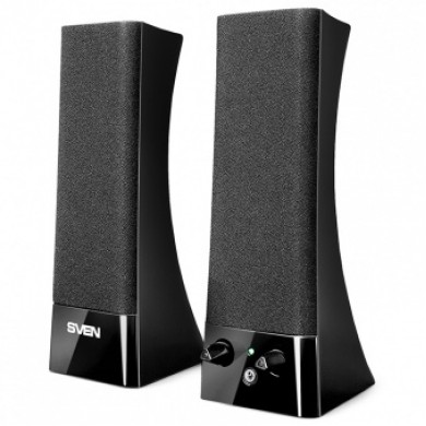 SVEN 235 Black,  2.0 / 2x2W RMS, headphone jack