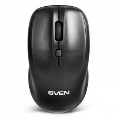 SVEN RX-305 Wireless, Optical Mouse, 2.4GHz, Nano Receiver, 800/1200/1600 dpi, USB, Black