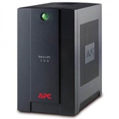APC Back-UPS BX700UI, 700VA/390W, AVR, 4 x IEC Sockets (all 4 Battery Backup + Surge Protected), RJ-11 Line Protection, LED indicators, PowerChute USB Port