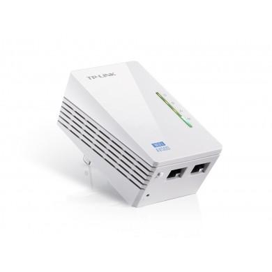 TP-LINK TL-WPA4220  N300 AV500 Powerline Adapter, Compact Size, 300Mbps Powerline Datarate, 1 Lan Port, Power Socket, HomePlug AV, Green Powerline,  Plug and Play, Pair Button, Range 300 meters in house