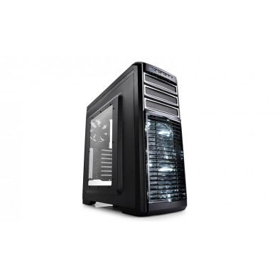 Carcasa DEEPCOOL KENDOMEN TI / w/oPSU / Side panel / 2x 120mm White LED fan and 3x 120mm / ATX / Black