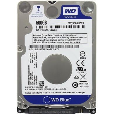 """2.5"""" HDD 500GB  Western Digital WD5000LPCX, Blue™, 5400rpm, 16MB, 7mm, SATAIII"""