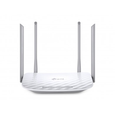 TP-LINK  Archer C50  AC1200 Dual Band Wireless Router, Atheros, 867Mbps at 5Ghz + 300Mbps at 2.4Ghz, 802.11ac/a/b/g/n, 1 WAN + 4 LAN, Wireless On/Off and WPS button,2 external antennas