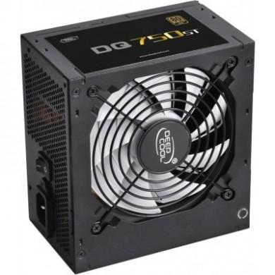 "PSU DEEPCOOL ""DQ750ST"", 750W, ATX 2.31, 80 PLUS® Gold, Active PFC, 120mm FDB Bearing fan with PWM, Double Layer EMI Filter, +12V (62A), 20+4 Pin, 1xEPS(4+4Pin), 5x SATA, 4xPCI-E(6+2pin), 3x Peripheral, MTBF120000Hours, Black"